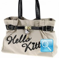 borsa shoulder bag kelly kt cream&black