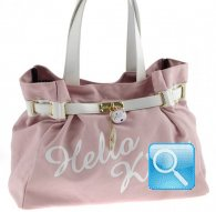 borsa shoulder bag kelly kt pink&white