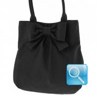 borsa camomilla shoulder bag L ribbon black