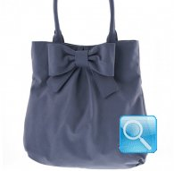 borsa shoulder bag L ribbon d.blue