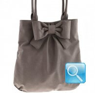 borsa shoulder bag L ribbon l.brown