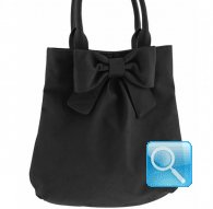 borsa camomilla shoulder bag m ribbon black