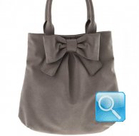 borsa camomilla shoulder bag m ribbon l.brown