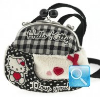 borsa hello kitty shoulder purse i love you black