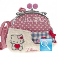 borsa hello kitty shoulder purse i love you pink