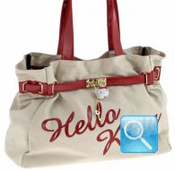 borsa hello kitty shoulder cream red