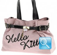 borsa hello kitty shoulder pink e black