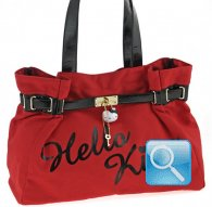 borsa hello kitty shoulder rosso nera