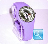 orologio hello kitty silicon diamanti lilac