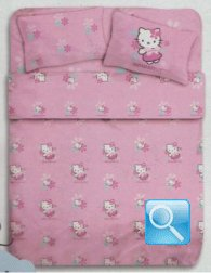 lenzuola hello kitty butterflay singolo