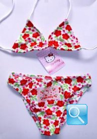 costume hello kitty bambina 5-6 anni fiori