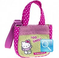 borsa hello kitty sportina c-tracollina too sweet green