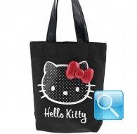 sporta hello kitty art dotty  black con fiocco rosso