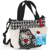borsa hello kitty sportina i love you black