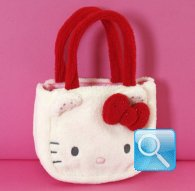 Borsa Sportina Hello Kitty Marshmallow Red