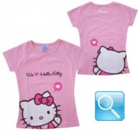 t-shirt rosa hello kitty maglietta L