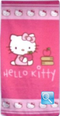 telo mare hello kitty salvietta rosa