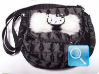Borsa hello kitty tracollina nera