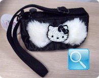 Borsa Hello Kitty mini tracollina nera