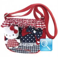 Borsa Tracolla Hello Kitty c.balza Red&Blue