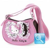 Borsa Tracolla Hello Kitty con doppio Fiocco pink & brown