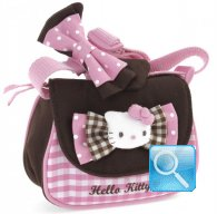 Borsa Tracolla Hello Kitty con Patta Pink & Brown