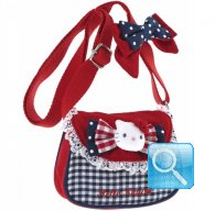 Borsa Tracolla Hello Kitty c-Patta red&blue