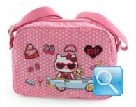 borsa hello kitty tracolla d.pink w-dots