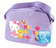 borsa hello kitty tracolla lilac w-dots