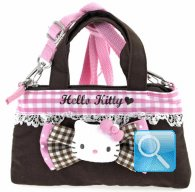 Borsa Tracolla Hello Kitty pink & brown