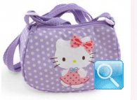 borsa hello kitty tracollina dotty lilac