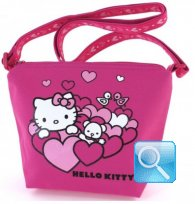Borsa Hello Kitty Tracollina Heart S Pink