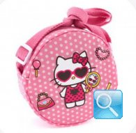 borsa hello kitty tracollina round dotty d.pink