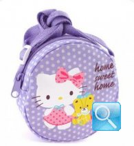 borsa hello kitty tracollina round dotty lilac