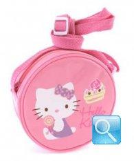 borsa hello kitty tracollina round pink