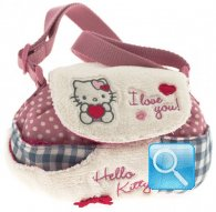 borsa hello kitty tracollina tonda i love you pink