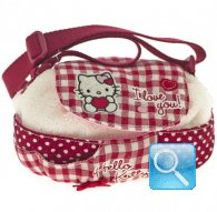 borsa hello kitty tracollina tonda i love you red