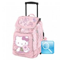 zaino trolley hello kitty scuola con manico allungabile