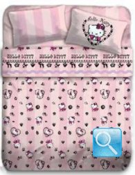 completo letto hello kitty french singolo