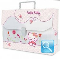 valigetta hello kitty cartellina asilo rosa chiaro nuova collezione 2013