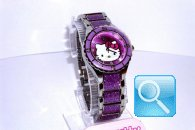 orologio hello kitty enamel viola