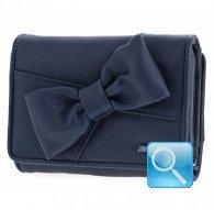 portafoglio camomilla wallet M ribbon blue
