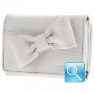 portafoglio camomilla wallet M ribbon white
