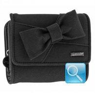 portafoglio camomilla wallet S ribbon black