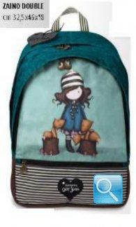 zaino scuola double gorjuss stripes cuore collezione 2013