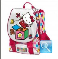 zaino hello kitty estensibile red