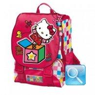 zaino hello kitty scuola estensibile red