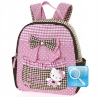 Zaino Asilo Hello Kitty L pink & brown