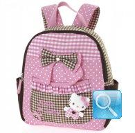 Zaino Asilo Hello Kitty L pink & brown