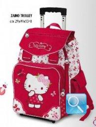 zaino trolley hello kitty manico allungabile magenta nuova collezione 2013